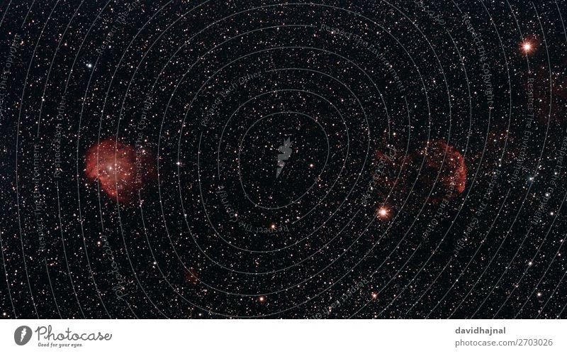 Affenkopf- und Quallennebel Technik & Technologie Wissenschaften Fortschritt Zukunft High-Tech Raumfahrt Astronomie Umwelt Natur Himmel nur Himmel
