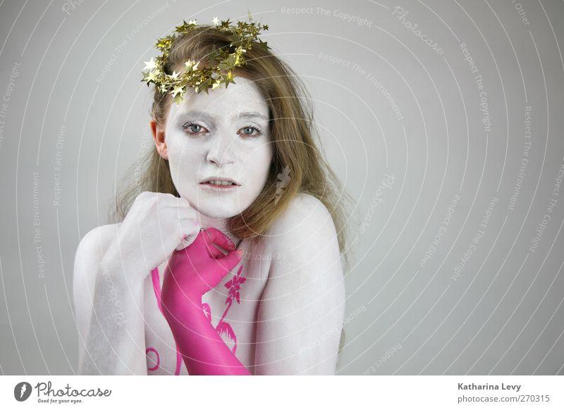 Weihnachten war doch gerade erst....?! Mensch Frau Jugendliche Hand weiß schön Erwachsene feminin Erotik Haare & Frisuren Farbstoff blond gold rosa Arme Haut