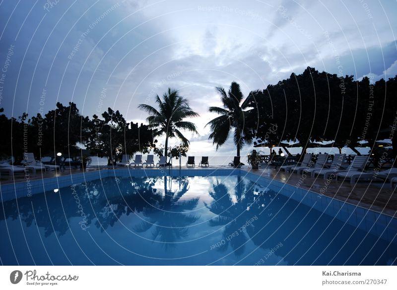 Pool und Meer in Fiji blau Ferien & Urlaub & Reisen Strand Ferne Freiheit Insel Tourismus Sommerurlaub