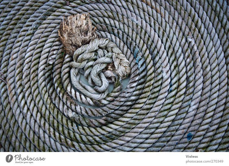Hiddensee   an der langen leine ..... Schifffahrt Hafen Seil Tauziehen grau Knoten aufgerollt Farbfoto Außenaufnahme