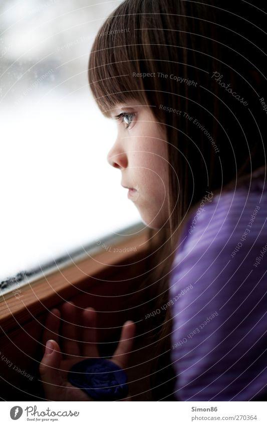 loging girl Mensch Kind schön Mädchen Einsamkeit feminin Gefühle Kopf Traurigkeit träumen Glas Kindheit warten Hoffnung Trauer Neugier