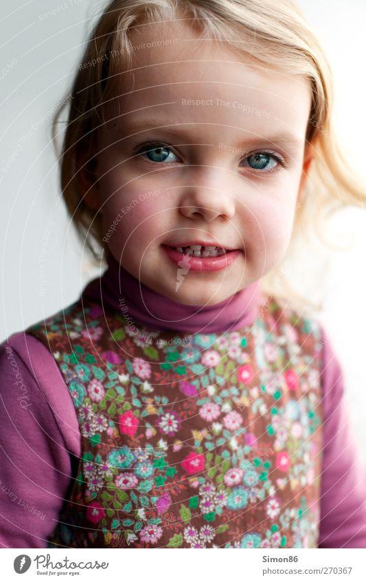 little beauty Mensch Kind Mädchen feminin Kopf Zufriedenheit blond Kindheit rosa ästhetisch einzigartig Neugier dünn Kindergarten Schüchternheit Stirn