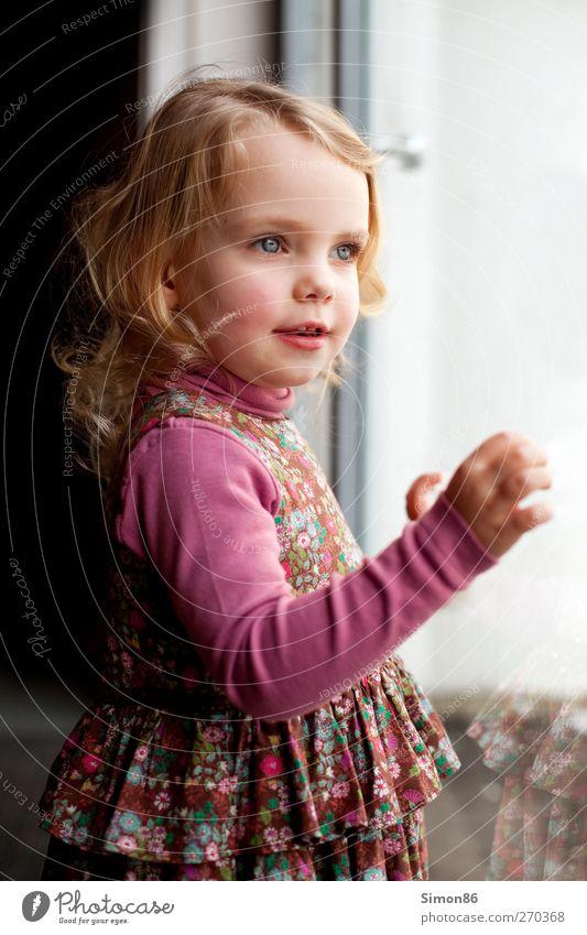 kleine Prinzessin Haare & Frisuren feminin Kind Mädchen Körper 1 Mensch 3-8 Jahre Kindheit Kleid blond langhaarig Locken Blick ästhetisch frei Glück schön