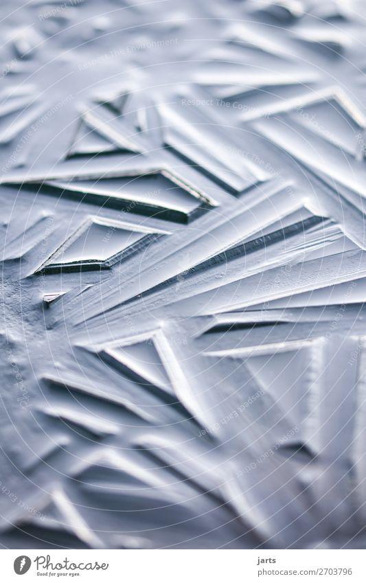 eis II Winter Eis Frost See frisch kalt blau silber Natur Eisfläche gefroren Außenaufnahme Nahaufnahme Detailaufnahme abstrakt Muster Menschenleer Tag