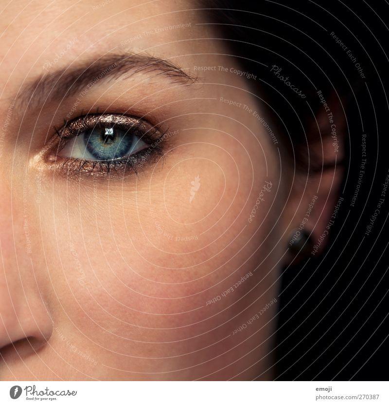 Bern, Aarau, Zürich feminin Jugendliche Auge 1 Mensch 18-30 Jahre Erwachsene schön Schminke Beautyfotografie Farbfoto Innenaufnahme Studioaufnahme Nahaufnahme