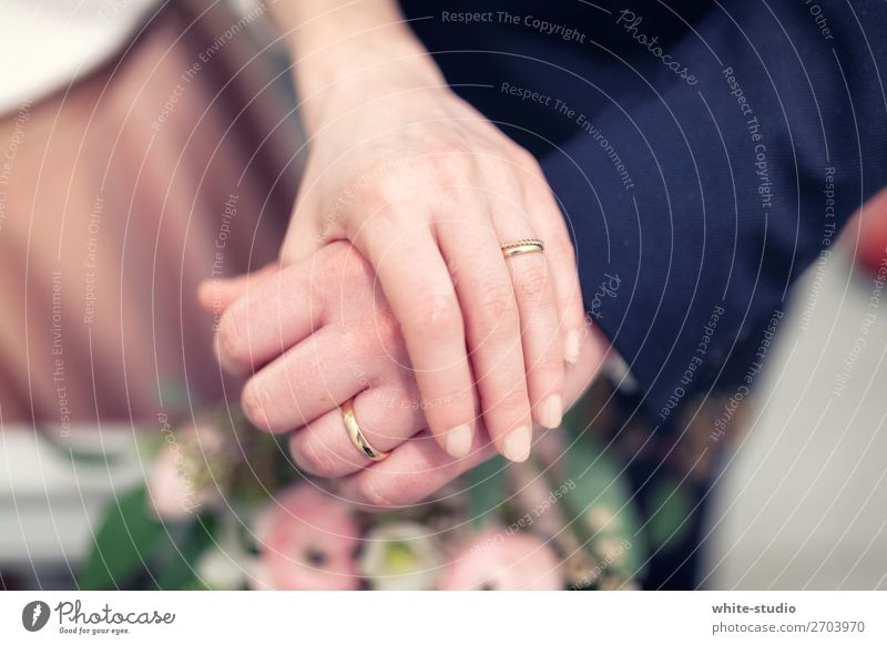 Zeit für Hochzeit Paar Partner Liebe Liebespaar Ehering Ring Kreis Hand Ehepaar Ehefrau Ehemann Tiefenschärfe Hochzeitspaar Hochzeitszeremonie Handhaltung
