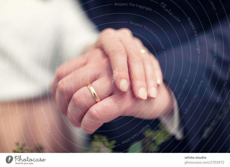 Zeit für Hochzeit Paar Partner Liebe Ehering Ring Kreis Hand Ehepaar Ehefrau Ehemann Tiefenschärfe Hochzeitspaar Handhaltung Zusammensein Partnerschaft