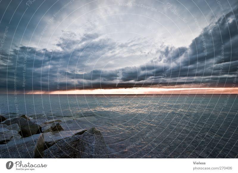 Hiddensee | night is coming Natur Landschaft Luft Wasser Himmel Wolken Gewitterwolken Sonnenaufgang Sonnenuntergang Frühling Wetter Küste Ostsee Insel