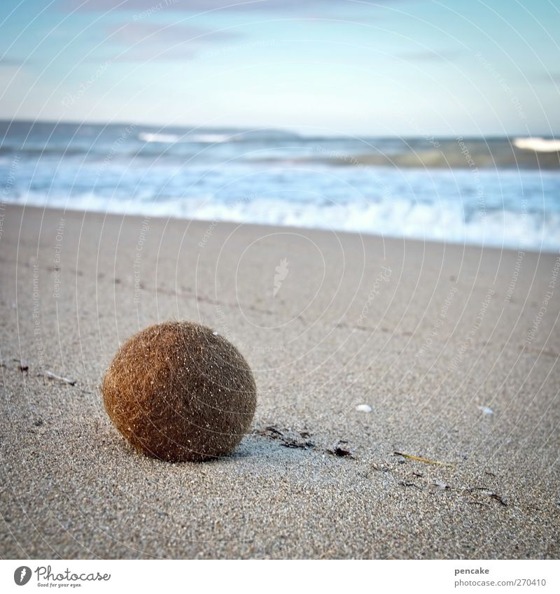 ball|ermann Himmel Wasser Ferien & Urlaub & Reisen Meer Strand ruhig Landschaft Spielen Küste Sand Wellen Insel Tourismus ästhetisch Ball Kugel