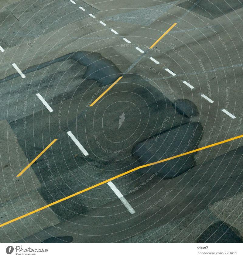 Schnittmuster Einsamkeit Straße Wege & Pfade Stein Linie elegant Schilder & Markierungen Beginn Design Verkehr modern authentisch ästhetisch Hinweisschild
