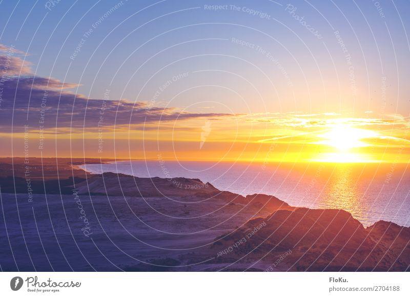 Sonnenuntergang überm Skagerrak Himmel Ferien & Urlaub & Reisen Natur Wasser Landschaft Meer Wolken Ferne Strand Umwelt natürlich Gefühle Küste Tourismus
