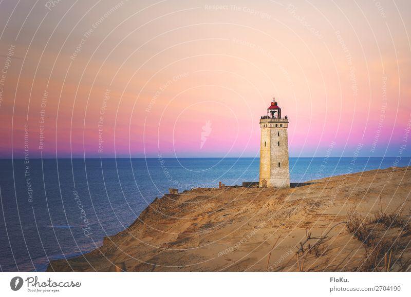 Leuchtturm bei Rubjerg Knude Ferien & Urlaub & Reisen Tourismus Ausflug Abenteuer Ferne Freiheit Sightseeing Strand Meer Umwelt Natur Landschaft Sand Wasser