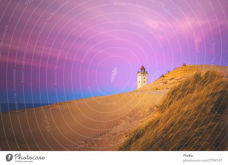 Dämmerung bei Rubjerg Knude Ferien & Urlaub & Reisen Tourismus Ausflug Ferne Freiheit Strand Meer Umwelt Natur Landschaft Urelemente Sand Luft Wasser Himmel