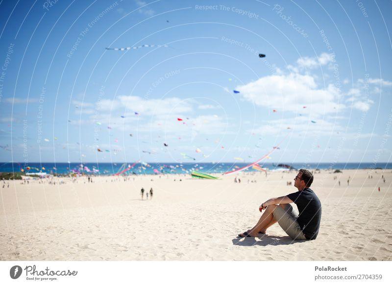 #AS# Leben ist BUNT Himmel Jugendliche Junger Mann Meer Erholung Strand Kunst wild maskulin Kindheit ästhetisch Kreativität Abenteuer genießen beobachten viele
