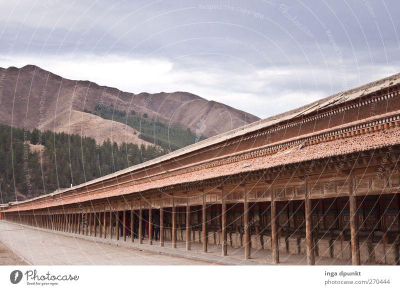 Pilgerweg Berge u. Gebirge Gefühle Religion & Glaube Gebäude Denken Felsen Kraft Reisefotografie Hoffnung Suche einzigartig Gipfel Bauwerk Asien China