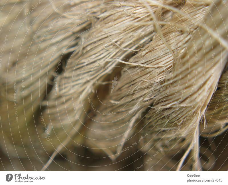 Tau Hanf Wellen geflochten Faser braun Ocker gewebt Industrie Seil Kreis