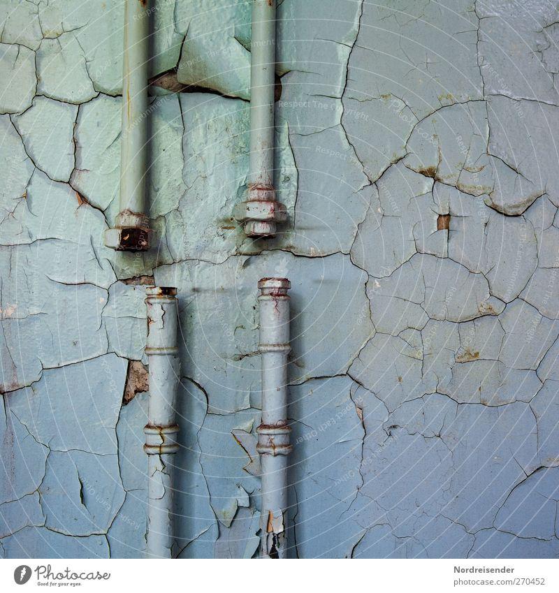 AST5 | Aneinander vorbeireden Güterverkehr & Logistik Handwerk Technik & Technologie Mauer Wand Arbeit & Erwerbstätigkeit alt blau Überraschung Frustration