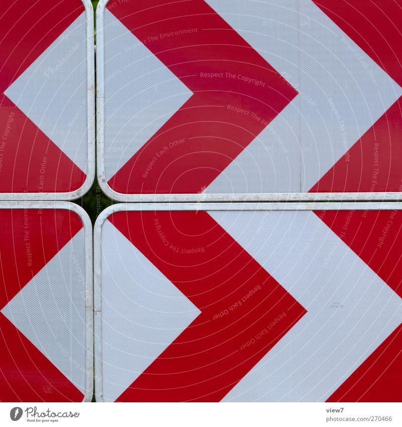 <>>² rot Straße Metall Linie Verkehr frisch modern authentisch ästhetisch Streifen Grafik u. Illustration einfach Richtung Kurve graphisch Originalität