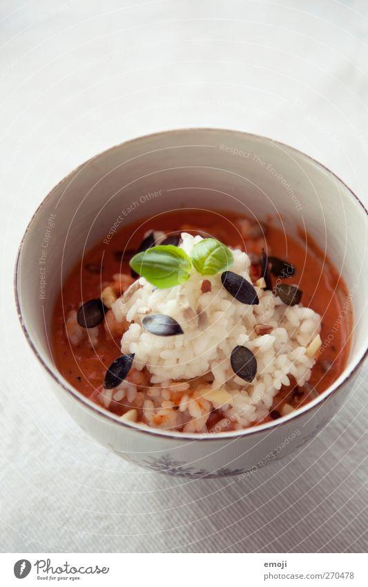 Tomatensuppe mit Reis Ernährung Getreide lecker Abendessen Bioprodukte Diät Mittagessen Schalen & Schüsseln Reis Suppe Vegetarische Ernährung Slowfood Eintopf Tomatensuppe