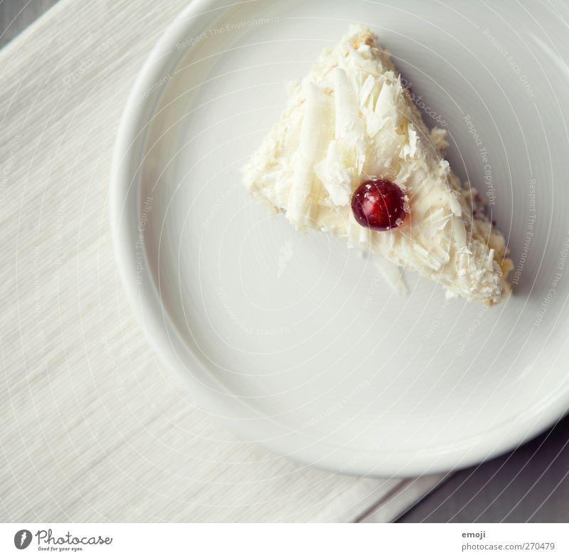 jetzt noch Nachspeise Dessert Süßwaren Torte Ernährung Slowfood Teller lecker süß Tortenstück Kirsche Kalorienreich Farbfoto Gedeckte Farben Innenaufnahme