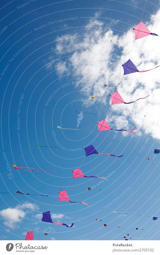#AS# Windtänzer Himmel Sommer Kunst Freiheit fliegen ästhetisch viele Drache Lenkdrachen Fuerteventura Drachenfliegen Drachenfest