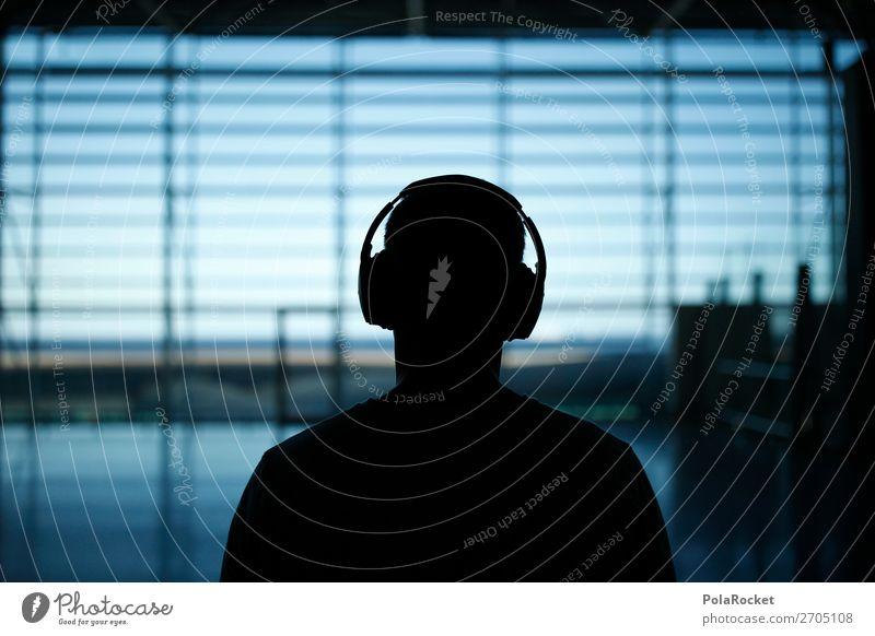 #AS# inside world Kunst ästhetisch akustisch Klang Musik Musik hören Kopfhörer warten Flughafen Erholung Abflughalle ruhig Hörbuch lernen Farbfoto