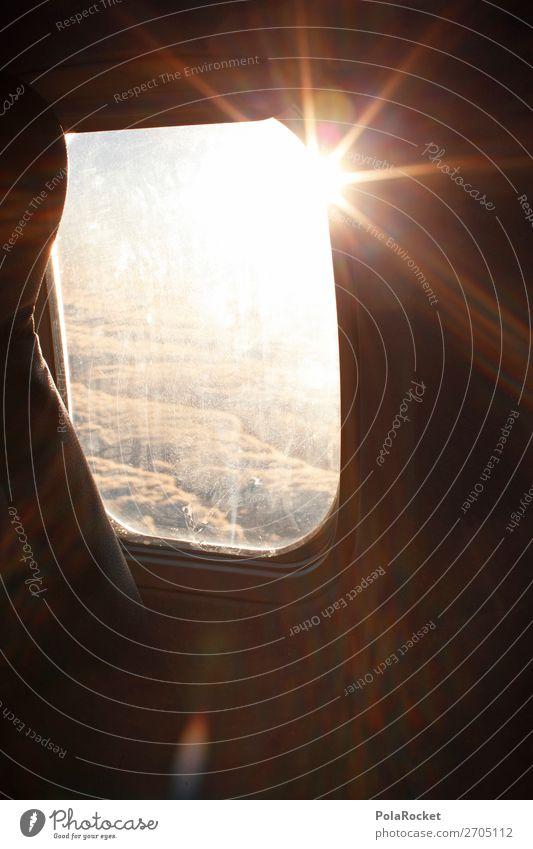 #AS# nice flight Luftverkehr Begeisterung fliegen Wolken Sonnenstrahlen Flugzeugfenster Flugzeugausblick Aussicht über den Wolken Ferien & Urlaub & Reisen