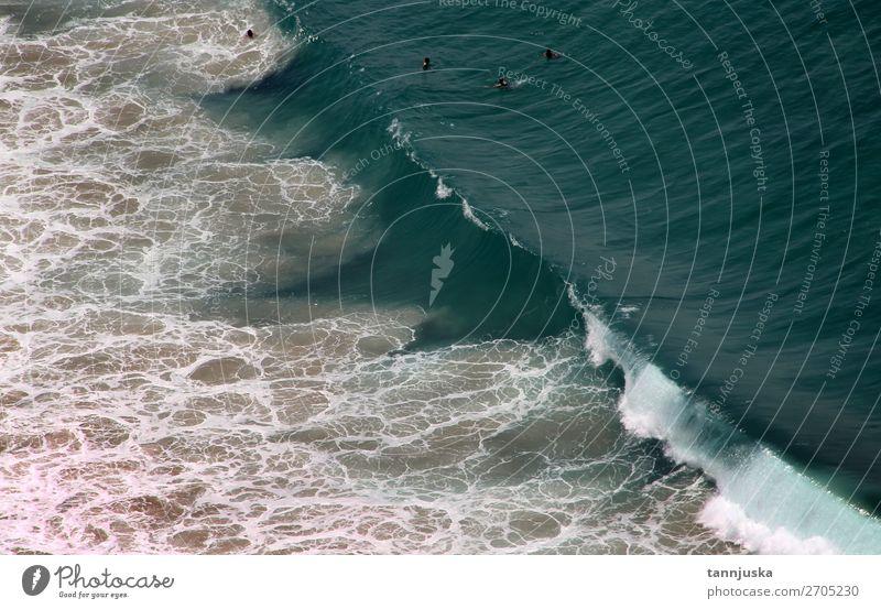 Schöne Aussicht auf Nazare, Portugal schön Ferien & Urlaub & Reisen Tourismus Ausflug Ferne Freiheit Sommer Sommerurlaub Strand Meer Wellen Natur Landschaft