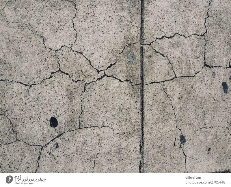textur#6 Mauer Wand Riss Strukturen & Formen Bruch Asphalt Boden dunkel kaputt grau Außenaufnahme Detailaufnahme Muster