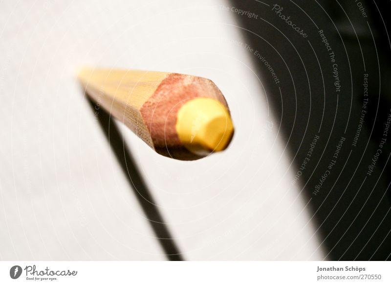 gelber Turm weiß schwarz gelb Kunst Arbeit & Erwerbstätigkeit stehen Perspektive Spitze Papier malen Kreativität Bildung schreiben zeichnen Kindergarten Schreibstift