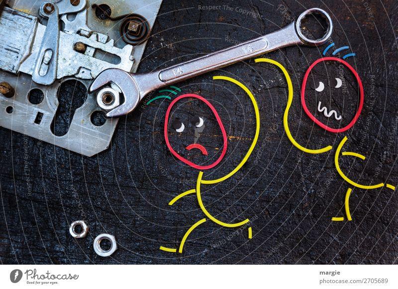 Gummiwürmer: Mechaniker Arbeit & Erwerbstätigkeit Beruf Handwerker Baustelle Dienstleistungsgewerbe Technik & Technologie Mensch maskulin androgyn Mann