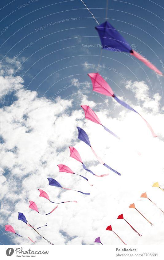 #AS# Luftspiele Kunst ästhetisch Himmel Drache Spielen Kindheit Kindheitserinnerung fliegen mehrfarbig Windspiel Lenkdrachen Feste & Feiern Musikfestival