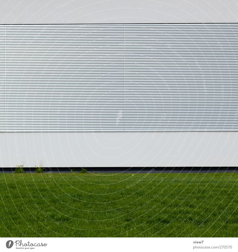 neue architektur Haus Fenster Wand Architektur Stein Mauer Gebäude Metall hell Linie Fassade elegant Ordnung Beton Beginn Design