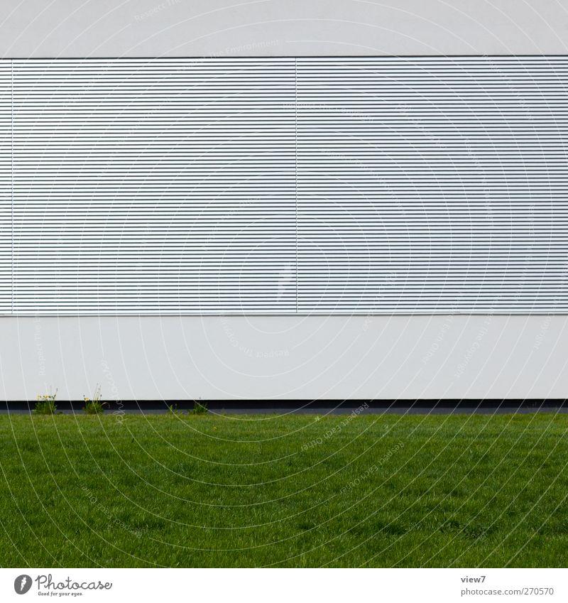 neue architektur Haus Industrieanlage Fabrik Bauwerk Gebäude Architektur Mauer Wand Fassade Fenster Stein Beton Metall Linie Streifen authentisch einfach