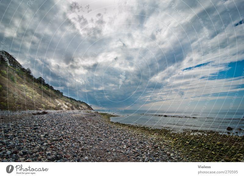 Hiddensee | wish you were here...... Landschaft Himmel Wolken Gewitterwolken Frühling Wetter Küste Ostsee Meer Insel träumen bedrohlich wild Stein Klippe