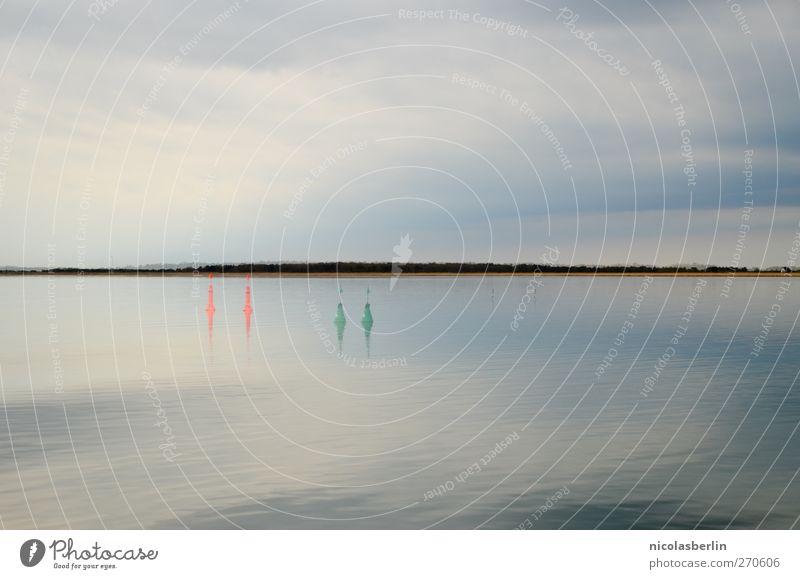 Hiddensee | Doppelt und Dreifach Wasser Ferien & Urlaub & Reisen Meer Strand Einsamkeit Wolken Ferne Umwelt Freiheit Küste träumen Regen Schwimmen & Baden
