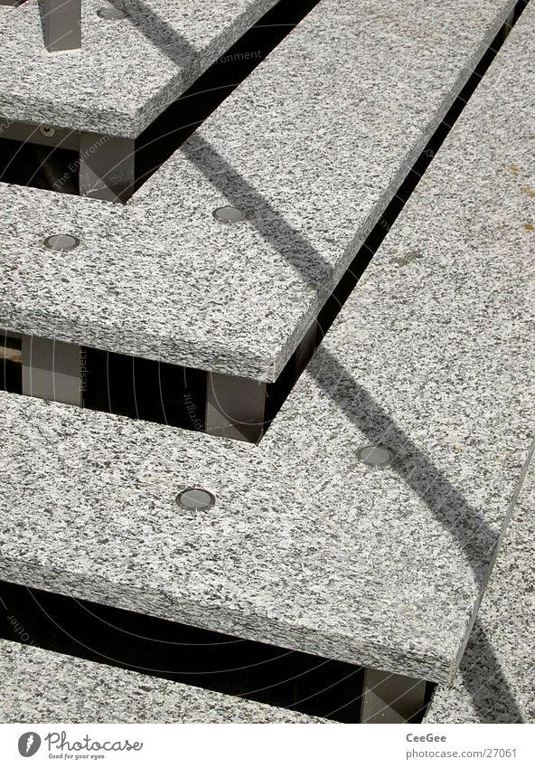 Treppen grau Linie Architektur Treppe diagonal