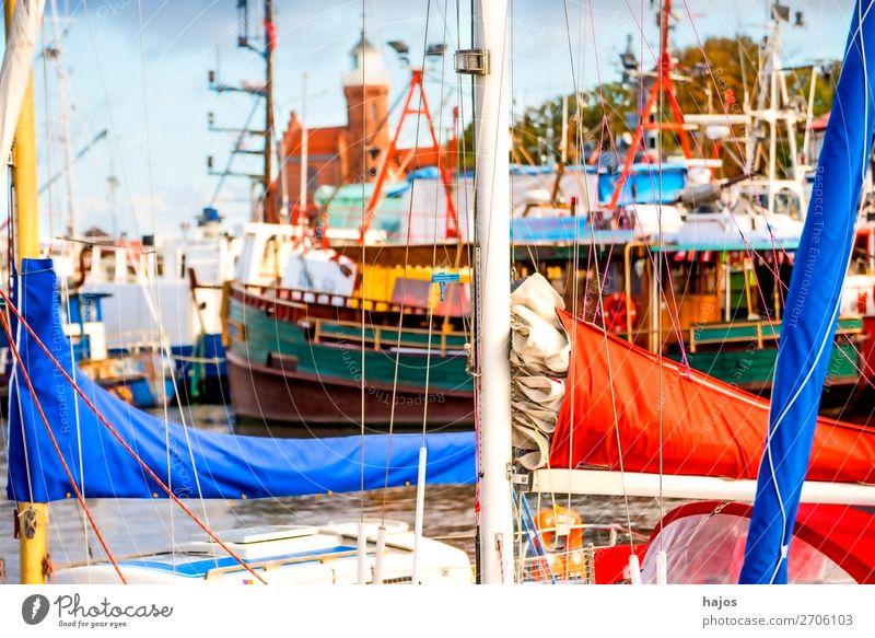 Haafen von Stolpmünde, Polen Ferien & Urlaub & Reisen Fischerdorf Jachthafen Fröhlichkeit frisch Hafen Fischereihafen Ustka Leuchtturm alt romantisch malerisch