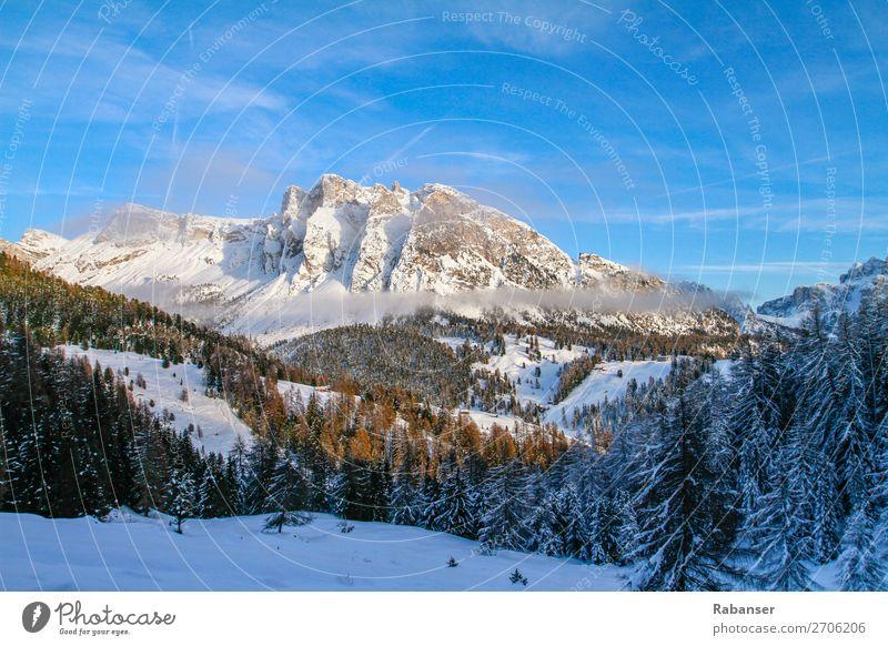 Pela de Vit in Gröden, Südtirol Ferien & Urlaub & Reisen blau Landschaft Baum Wolken Wald Winter Berge u. Gebirge Umwelt Stein Schneefall Freizeit & Hobby