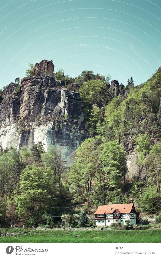 Elbeblick Himmel Natur Ferien & Urlaub & Reisen grün Baum Haus Wald Umwelt Landschaft Wiese Berge u. Gebirge Frühling Felsen Freizeit & Hobby hoch Tourismus