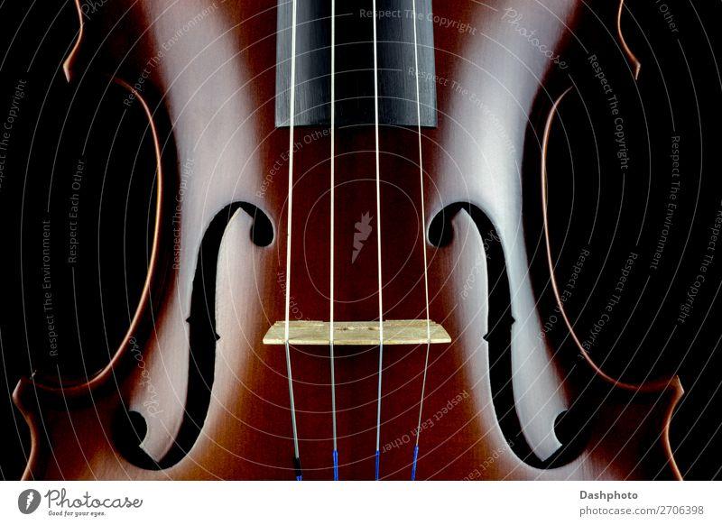 Geigenkörper Mittelschnittansicht auf schwarzem Hintergrund Freizeit & Hobby Kunst Kultur Musik Konzert Orchester Holz Musik hören retro braun Erholung Leistung