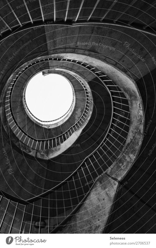 Wendeltreppe Bauwerk Gebäude Architektur Treppe drehen Schwarzweißfoto Außenaufnahme Strukturen & Formen Menschenleer