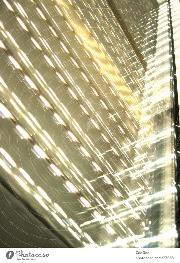 Morgenlicht Licht Rollo Rollladen Fenster Lichtspiel Reflexion & Spiegelung Häusliches Leben Sonne Lichterscheinung Beleuchtung