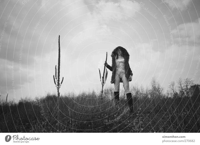 mode Mensch Pflanze Stil Mode ästhetisch Model Futurismus Mantel Surrealismus Kaktus Badeanzug Apokalypse