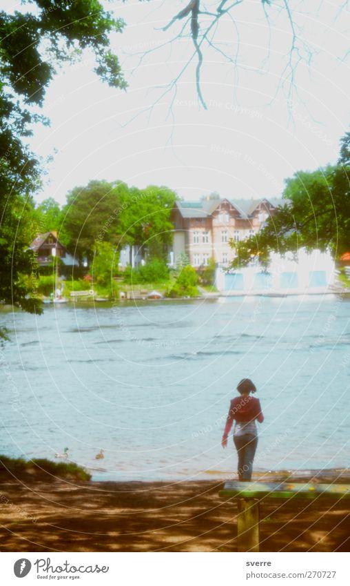 Am Wasser Natur Wasser Erholung Frühling Zufriedenheit Freizeit & Hobby retro Idylle Schönes Wetter Flussufer