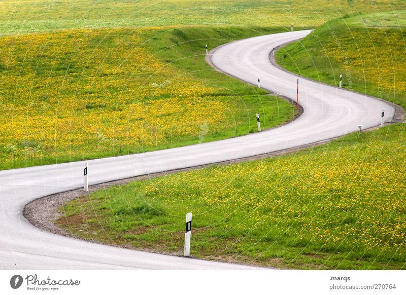 S Natur Sommer Umwelt Landschaft Straße Wiese Wege & Pfade Schilder & Markierungen Ausflug Verkehr Zukunft fahren Güterverkehr & Logistik Asphalt Verkehrswege