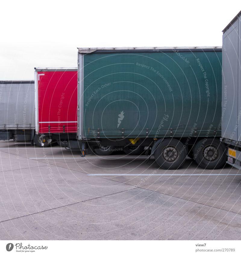 TruX Arbeitsplatz Güterverkehr & Logistik Verkehr Verkehrsmittel Verkehrswege Straße Lastwagen Anhänger alt authentisch einfach Klischee geheimnisvoll