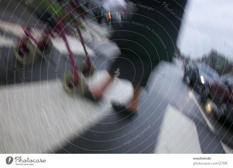 i_am_walking! gehen Zebrastreifen Mensch laufen Behinderte Straße Wege & Pfade alt