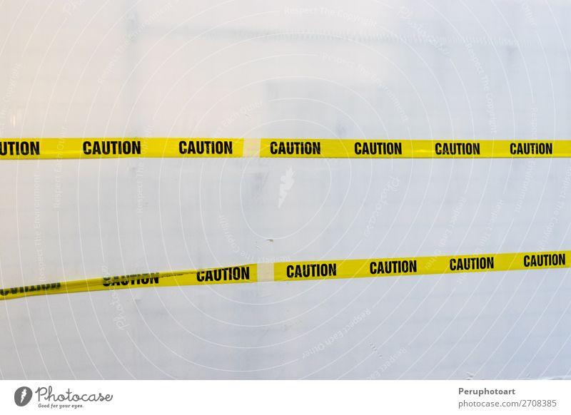 alt weiß schwarz gelb Tod dreckig Sicherheit Symbole & Metaphern Kunststoff Geborgenheit Text diagonal Vorsicht horizontal Single Musikkassette