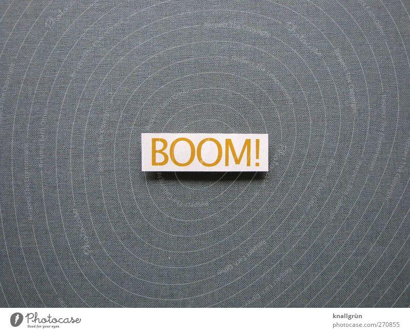 BOOM! Schriftzeichen Schilder & Markierungen Kommunizieren eckig Gefühle Stimmung Begeisterung Euphorie Optimismus Erfolg Kraft Tatkraft Energie Erwartung